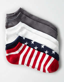 AEO Flag Low Cut Socks 3-Pack
