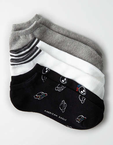 AEO Aliens Low Cut Socks 3-Pack