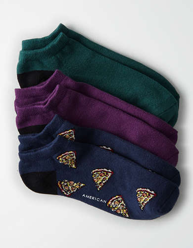AEO Pizza Low Cut Socks 3-Pack