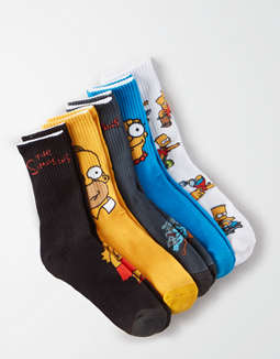 AE X Simpsons Socks 5-Pack