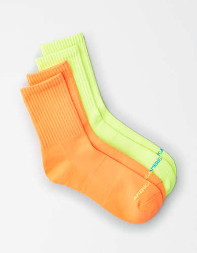 AEO Neon Mid Length Socks 2-Pack