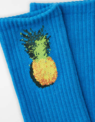AEO Pineapple Crew Sock