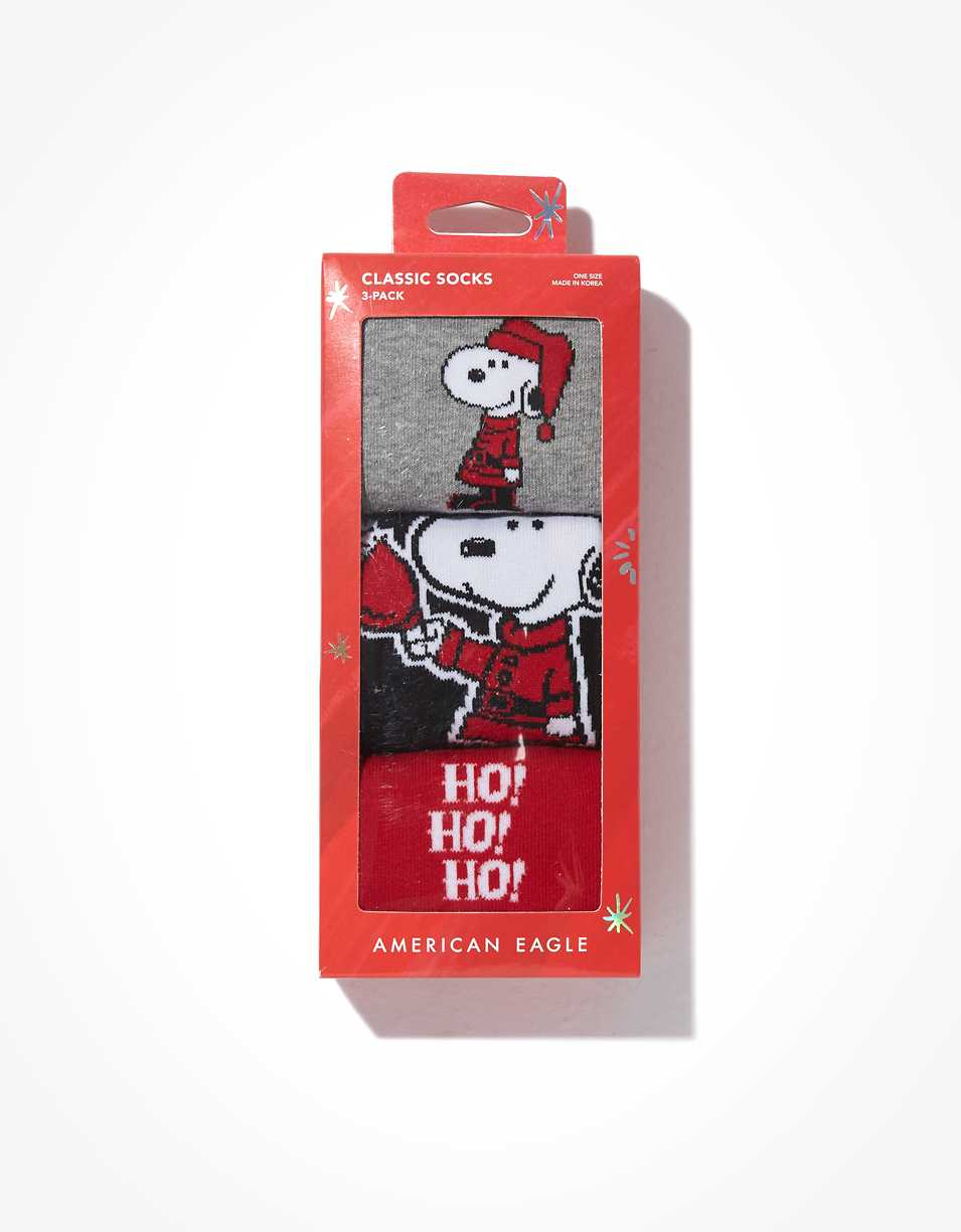 AEO Snoopy Crew Socks 3-Pack