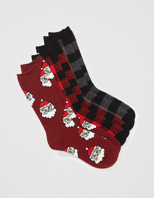 AEO Holiday Fuzzy Socks 3-Pack