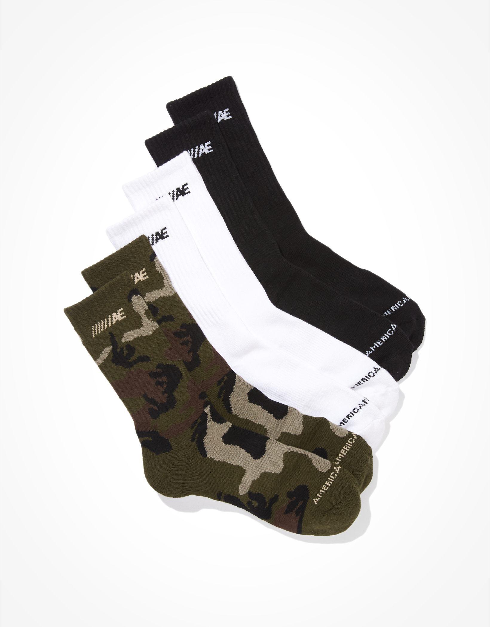 AEO Crew Socks 3-Pack