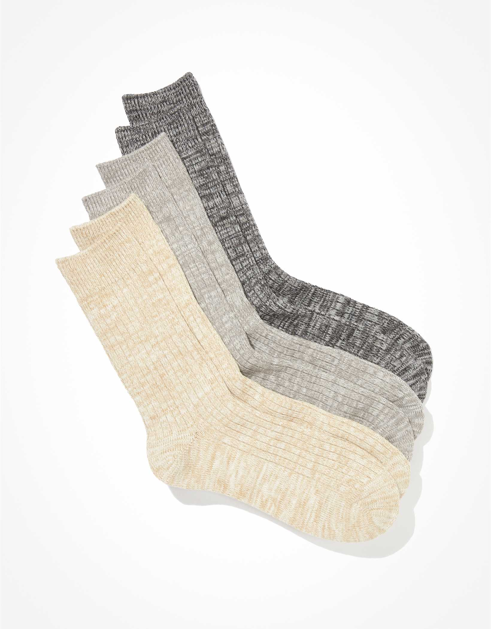 AEO Lightweight Boot Socks 3-Pack