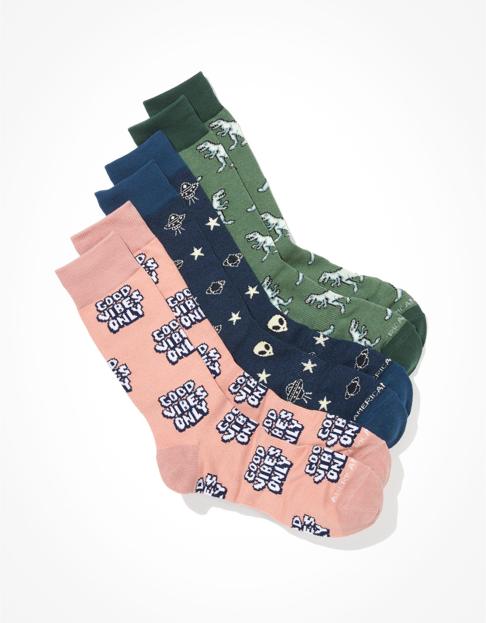 AEO Vibes Classic Socks 3-Pack