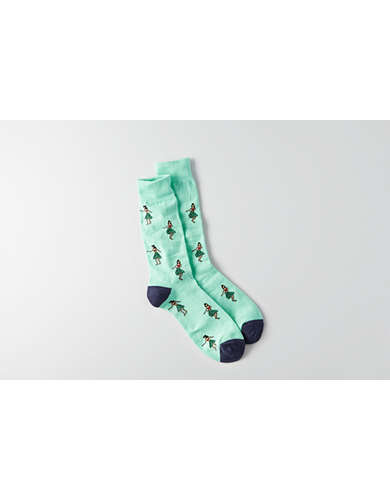 AEO Hula Dancer Crew Socks - Buy One Get One 50% Off