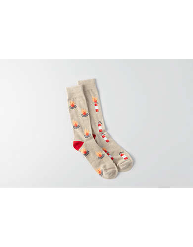 AEO Fire Safety Crew Socks -