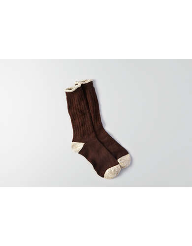 AEO Stripe Cuff Boot Socks -
