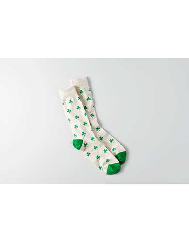 AEO Shamrock Crew Socks - Buy One Get One 50% Off