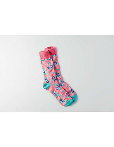 AEO Hawaiian Floral Crew Socks - Buy One Get One 50% Off