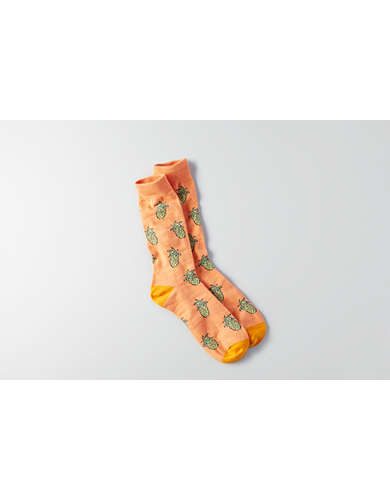 AEO Pineapple Crew Socks - Buy One Get One 50% Off