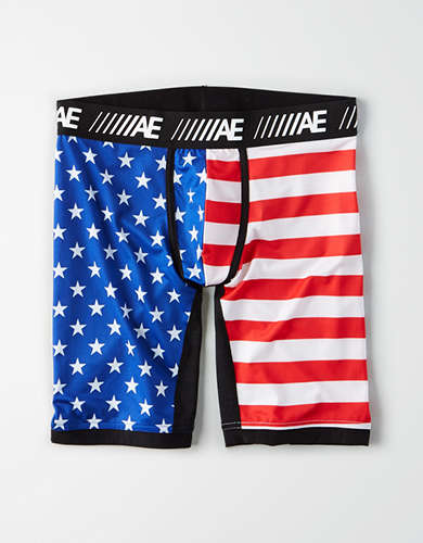 "AEO Star Spangled 9"" Cooling Boxer Brief"