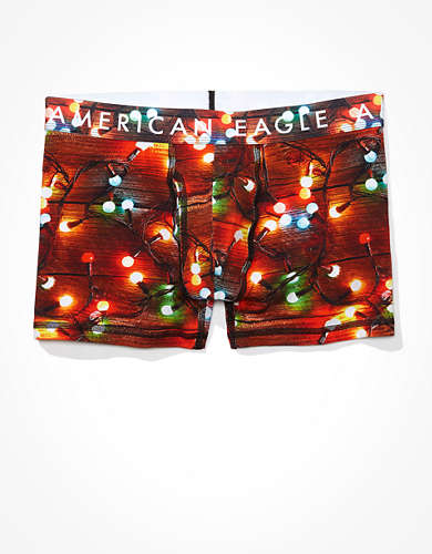 "AEO Xmas Lights 3"" Classic Trunk Underwear"