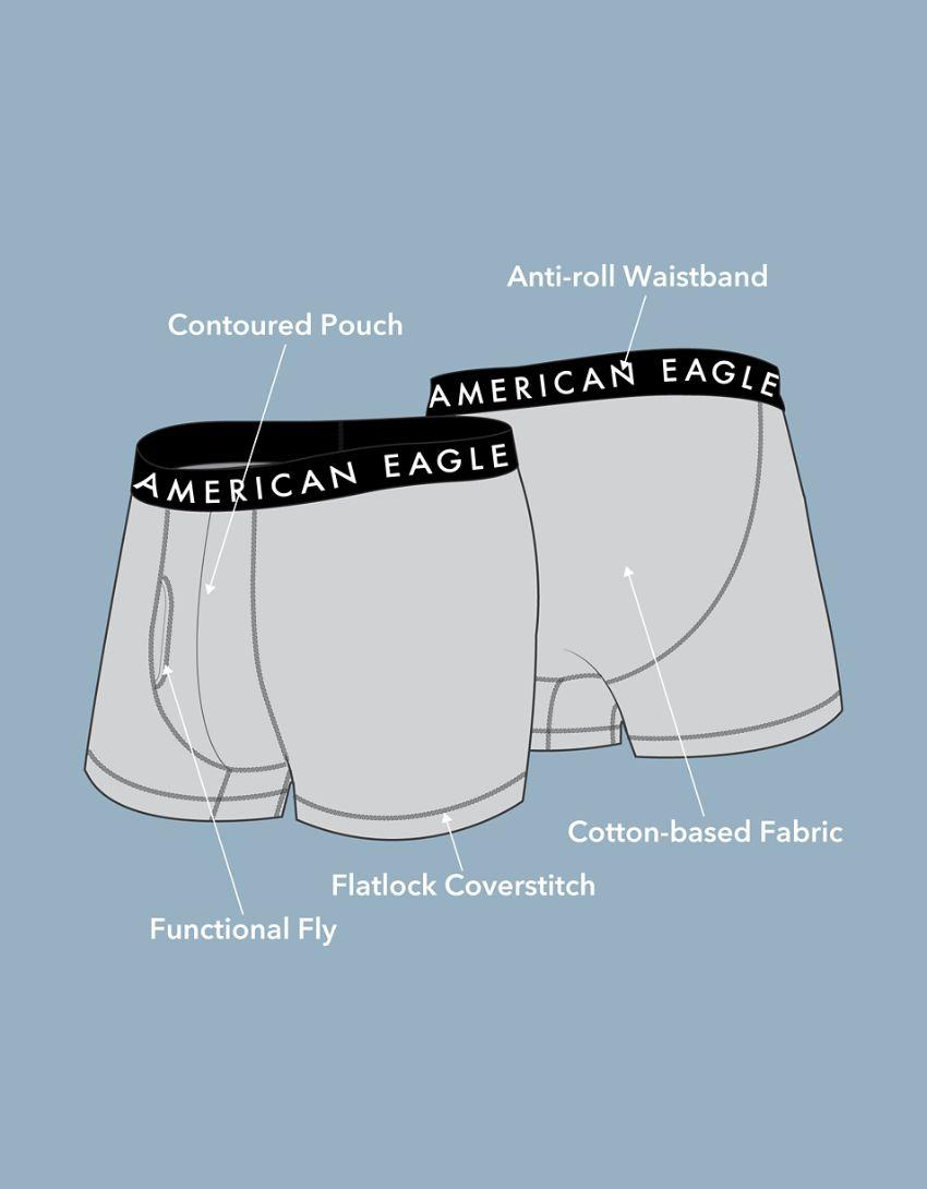 """AEO Tiny Palms 3"""" Classic Trunk Underwear"""