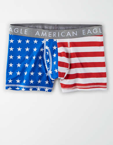 "AEO Stars + Stripes 3"" Classic Trunk Underwear"