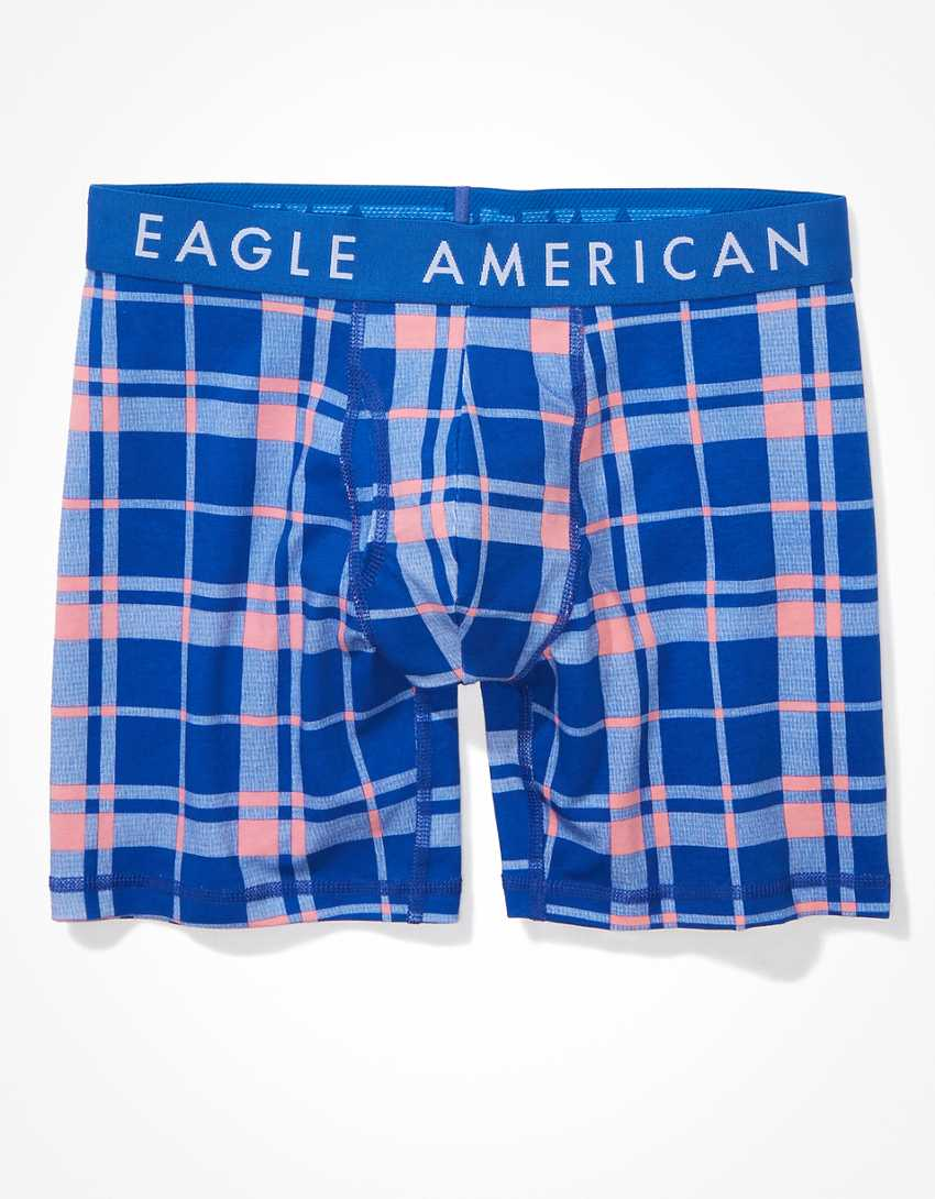 """AEO Plaid Thermo-Changing 6"""" Classic Boxer Brief"""
