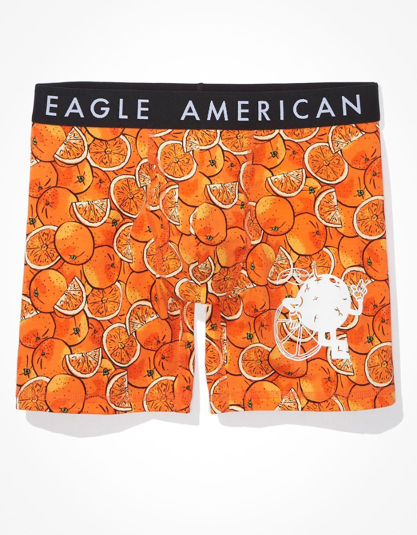 """AEO Orange Scented 6"""" Classic Boxer Brief"""