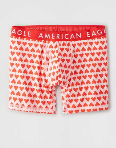 "AEO Mini Hearts 6"" Classic Boxer Brief"