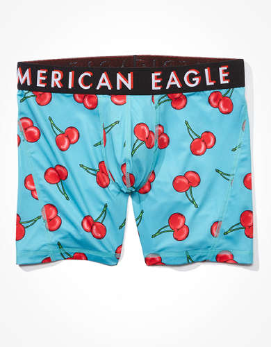 "AEO Cherries 6"" Flex Boxer Brief"
