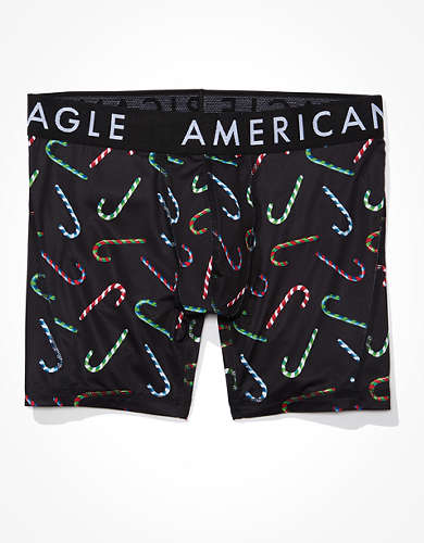 "AEO Candy Canes 6"" Flex Boxer Brief"