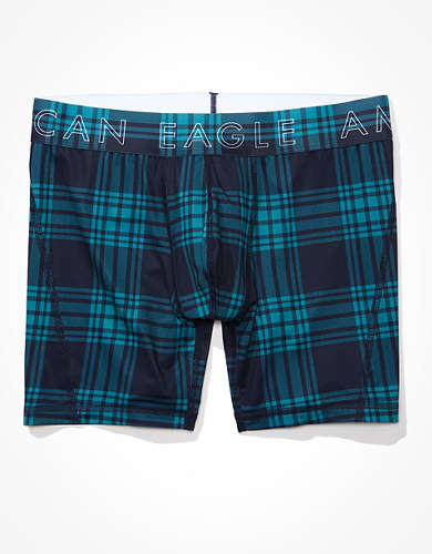 "AEO Plaid 6"" Flex Boxer Brief"