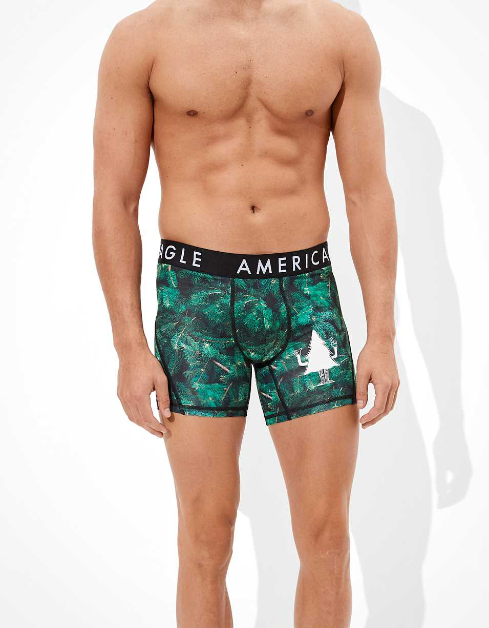 "AEO Scented Pines 6"" Flex Boxer Brief"