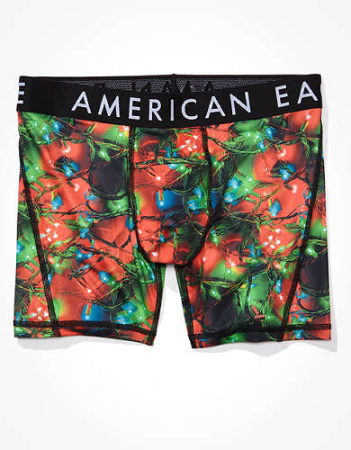 "AEO Xmas Lights 6"" Horizontal Fly Flex Boxer Brief"