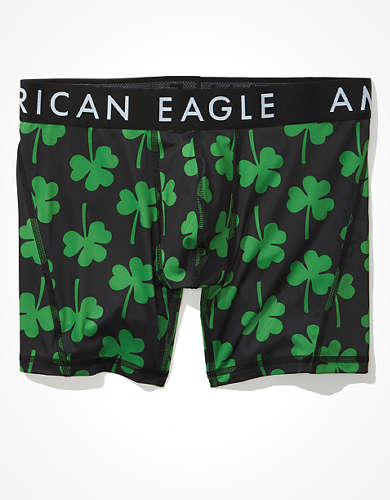"AEO Clovers 6"" Flex Boxer Brief"