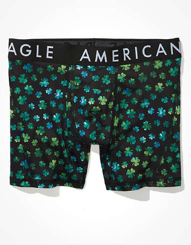 "AEO Fun Clovers 6"" Horizontal Fly Boxer Brief"