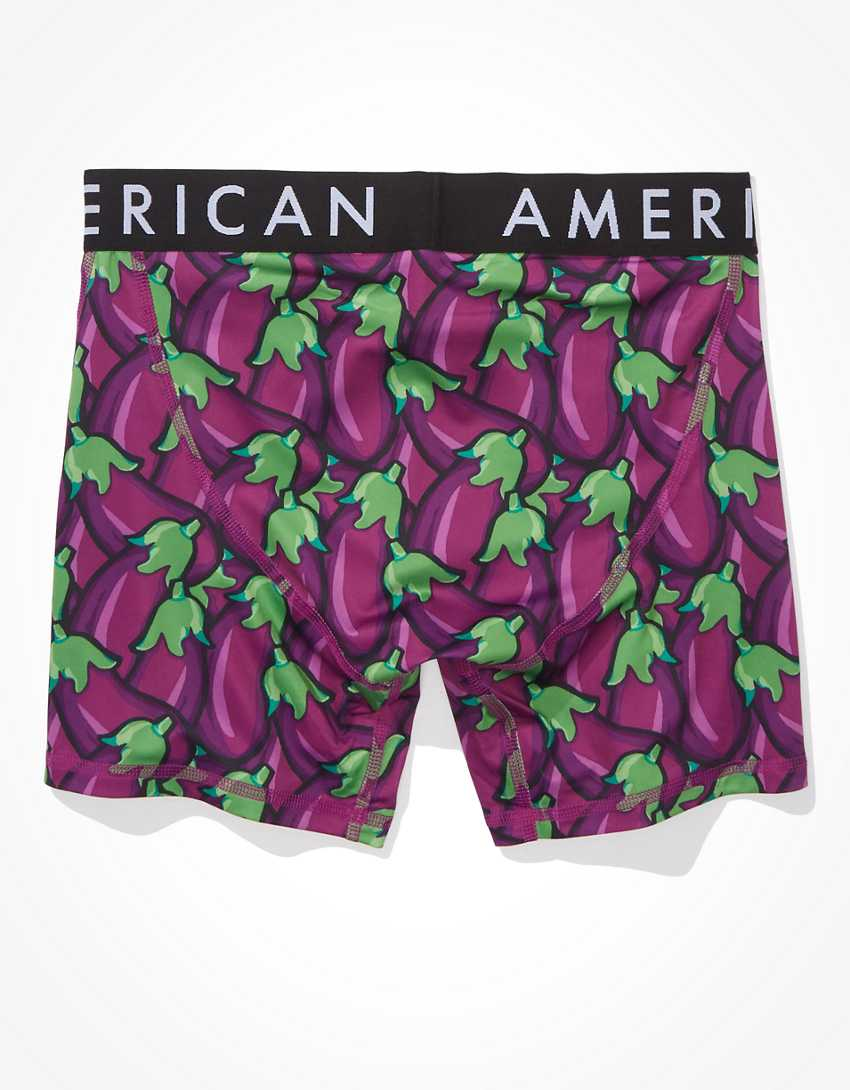 "AEO Eggplants 6"" Flex Boxer Brief"