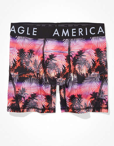 "AEO Sunset Palms 6"" Horizontal Fly Boxer Brief"