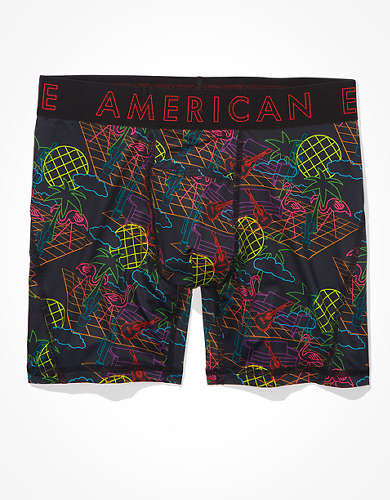 "AEO Neon Tropics 6"" Horizontal Fly Boxer Brief"