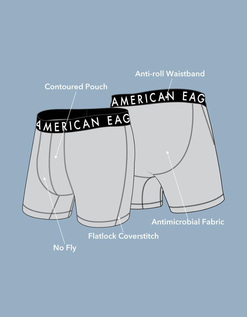 """AEO Neon Eagles 6"""" Flex Boxer Brief"""