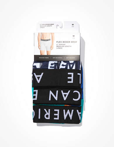 "AEO 6"" Flex Boxer Brief 3-Pack"