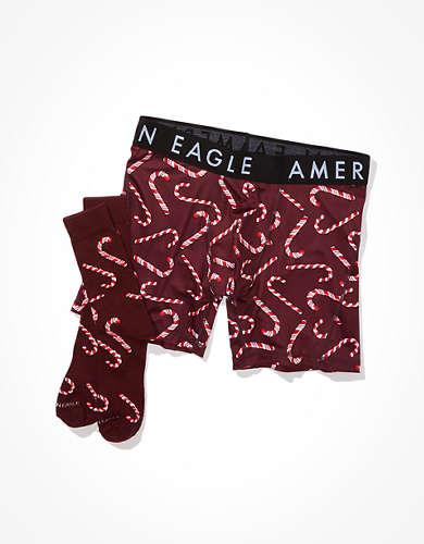 """מארז מתנה תחתוני בוקסר גמישים 15 ס""""מ + גרביים אמריקן איגל אאוטפיטרס"""