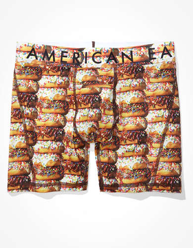 "AEO Donuts 6"" Horizontal Fly Flex Boxer Brief"