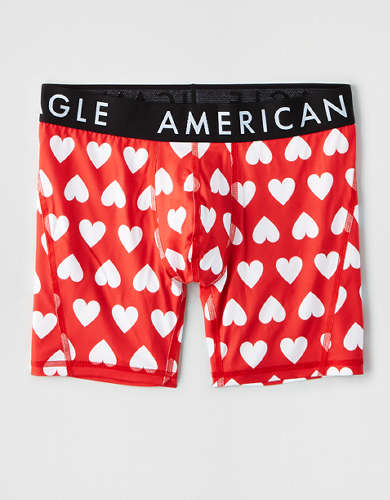 "AEO Royal Hearts 6"" Flex Boxer Brief"