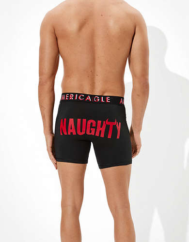 "AEO Naughty 6"" Flex Boxer Brief"