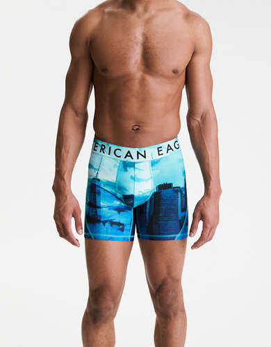 "AEO NYC Sharks 6"" Flex Boxer Brief"