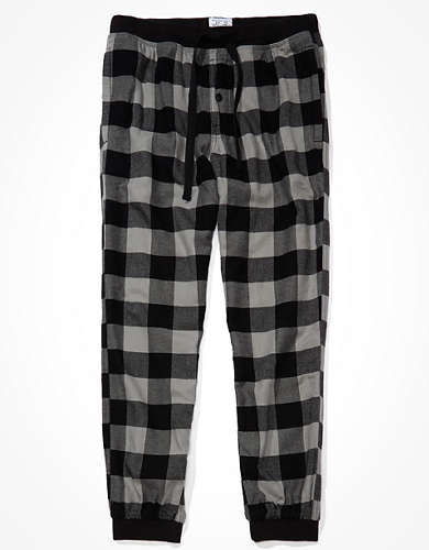 AE Plaid Flannel Jogger Pant
