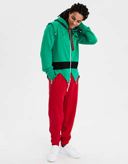 Aeo Elf One Piece Pajama Costume by American Eagle Outfitters