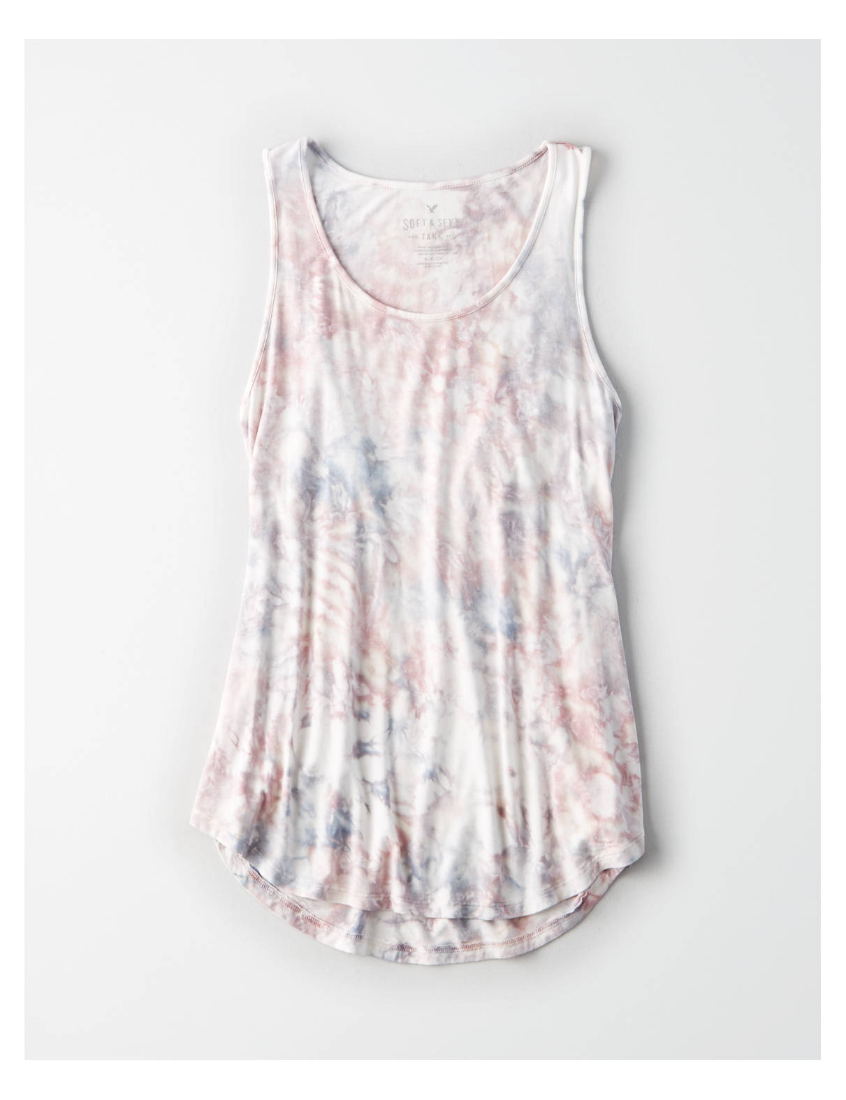 Display product reviews for AE Soft & Sexy Tie Dye Scoop Neck Tank Top