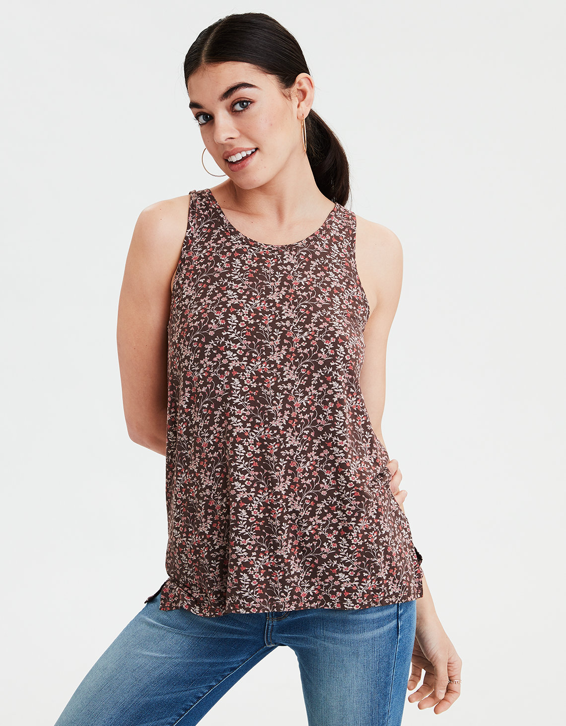 AE Soft & Sexy Floral Tank Top