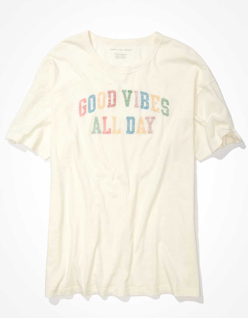 AE Oversized Good Vibes Only Graphic T-Shirt