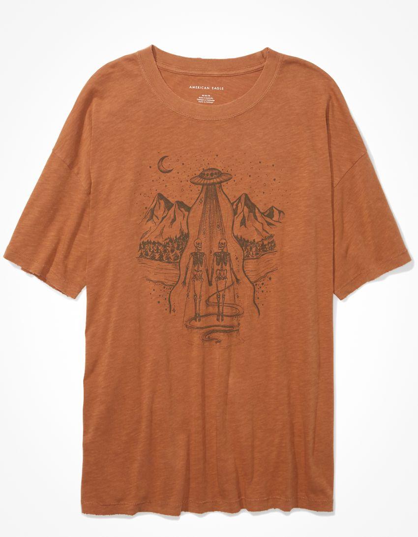 AE Oversized Hand Drawn Graphic T-Shirt