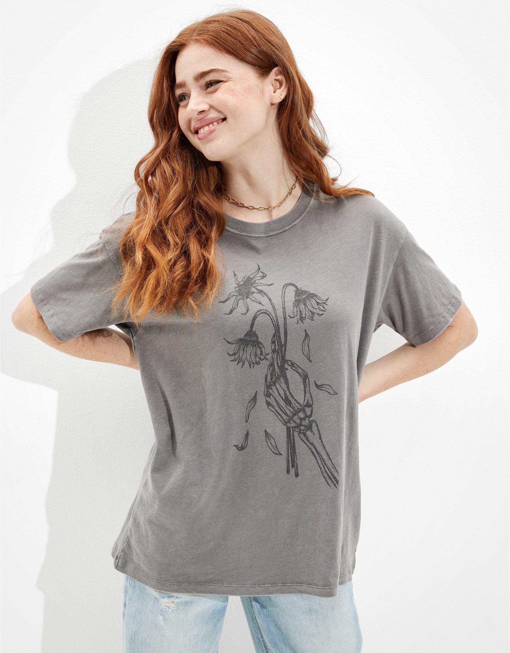 AE Oversized Halloween Graphic T-Shirt