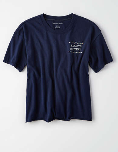 AE Embroidered Message Tee -