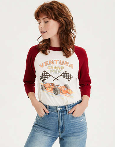 AE Long Sleeve Cars Graphic T-Shirt